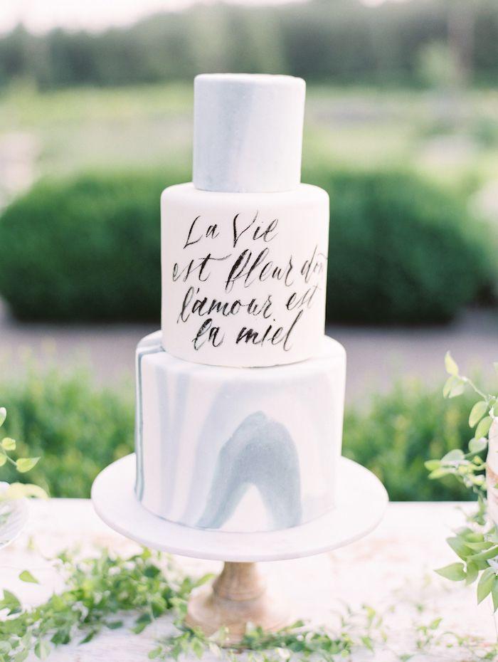 Comment décorer le gâteau mariage, le plus beau gateau de mariage du monde, gateau romantique, trois etages