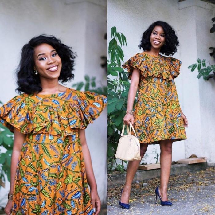 1001 fa ons modernes d 39 adopter la robe en wax pour un look chic et authentique. Black Bedroom Furniture Sets. Home Design Ideas