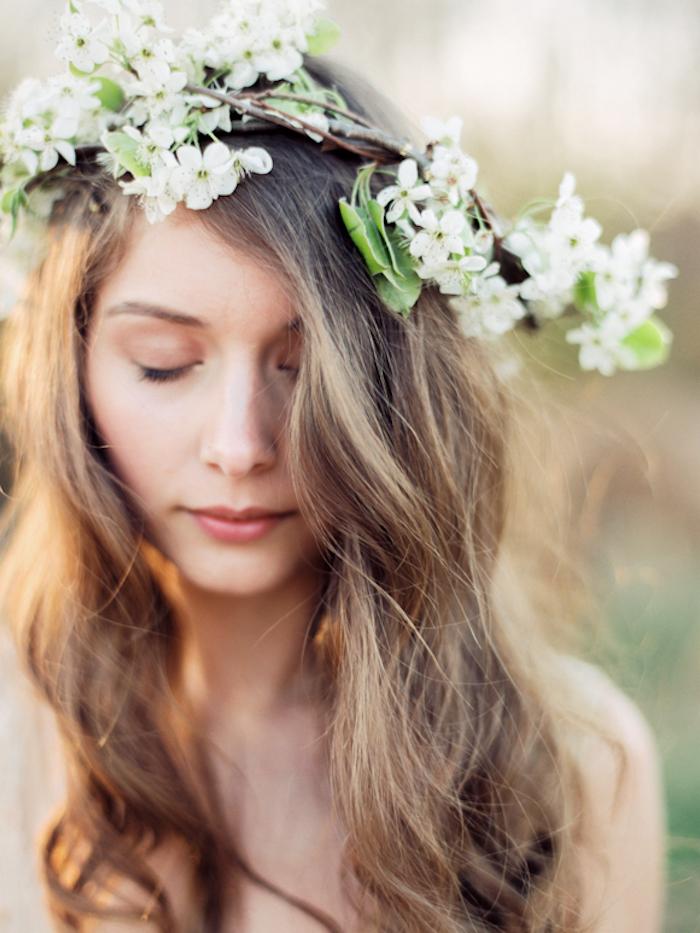 La coiffure champetre mariage, belle coiffure mariage boheme, trouver son style cheveux