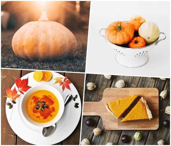 comment cuisiner la citrouille, recettes d'automne faciles et rapides à base de la citrouille, soupe à la citrouille onctueuse et tarte américaine à la courge