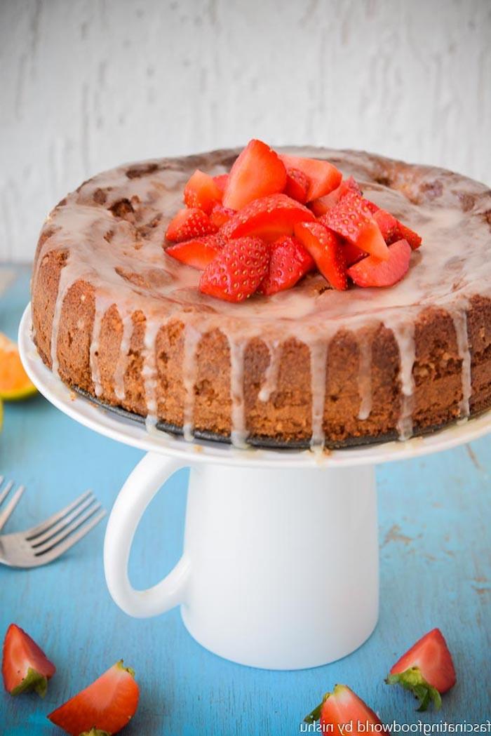 Chouette idée de gateau leger pour l'été, recette gateau aux fraises leger, faire un gateau soi meme
