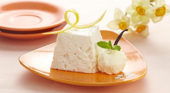 Recette gateau simple et vite, gateau allégé, idée cake aux original moelleux de ricotta et glace de vanille