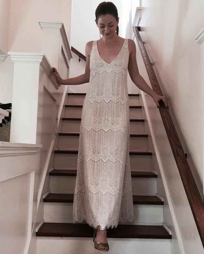 robe mariée bohème, tenue boheme chic, robe blanche boheme, robe de mariée bohème, robe hippie chic dentelle