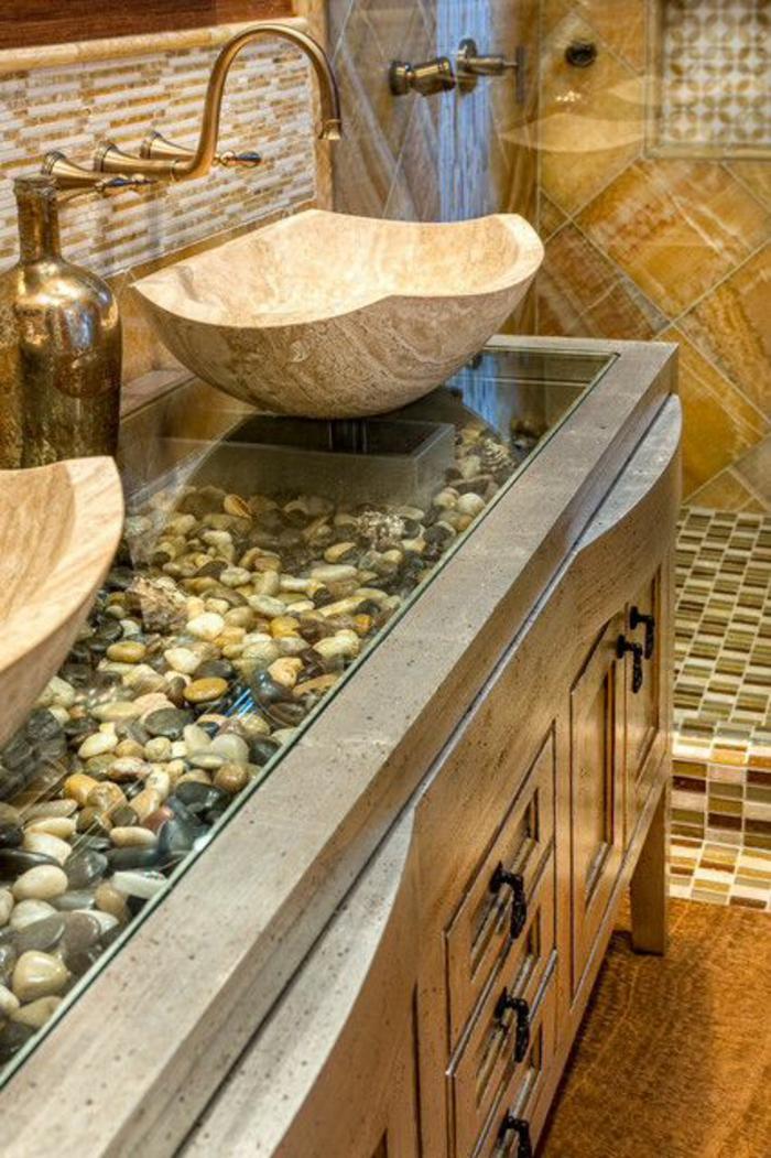 decoration petite salle de bain, modele de salle de bain, modele carrelage salle de bain, salle de bain zen et chaleureuse