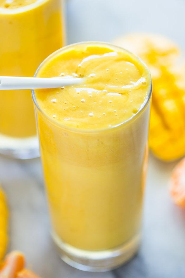 banane et mangue, smoothie révitalisant, couleur radiante, recettes smoothie maison