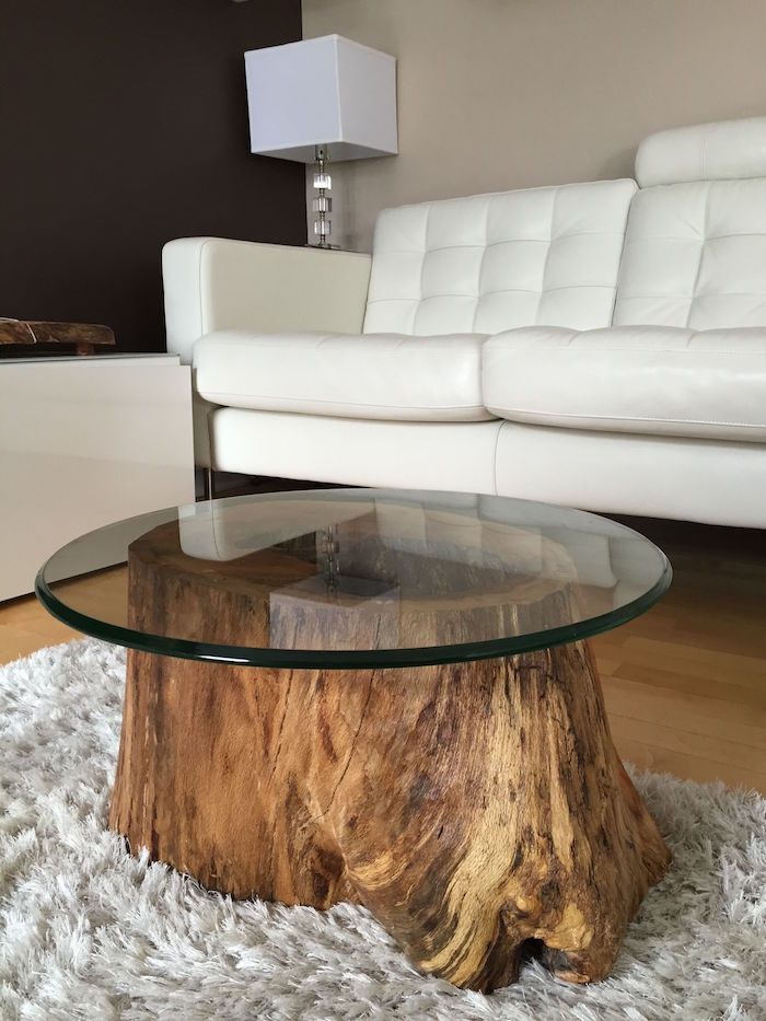 1001 Idees Table Basse En Tronc D Arbre Le Meuble