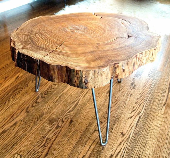1001 id es table basse en tronc d 39 arbre le meuble diy qui cache la for t. Black Bedroom Furniture Sets. Home Design Ideas