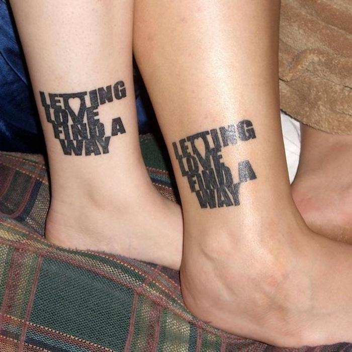 tatouage couple discret, tatouage symbole avec citation, tatouage amour et fidelite