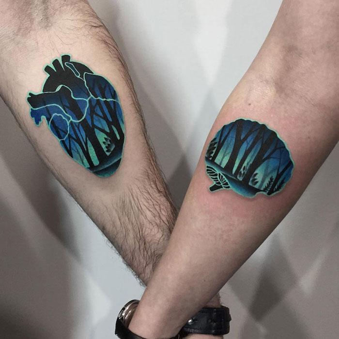 1001 id es pour le tatouage de couple le plus beau. Black Bedroom Furniture Sets. Home Design Ideas