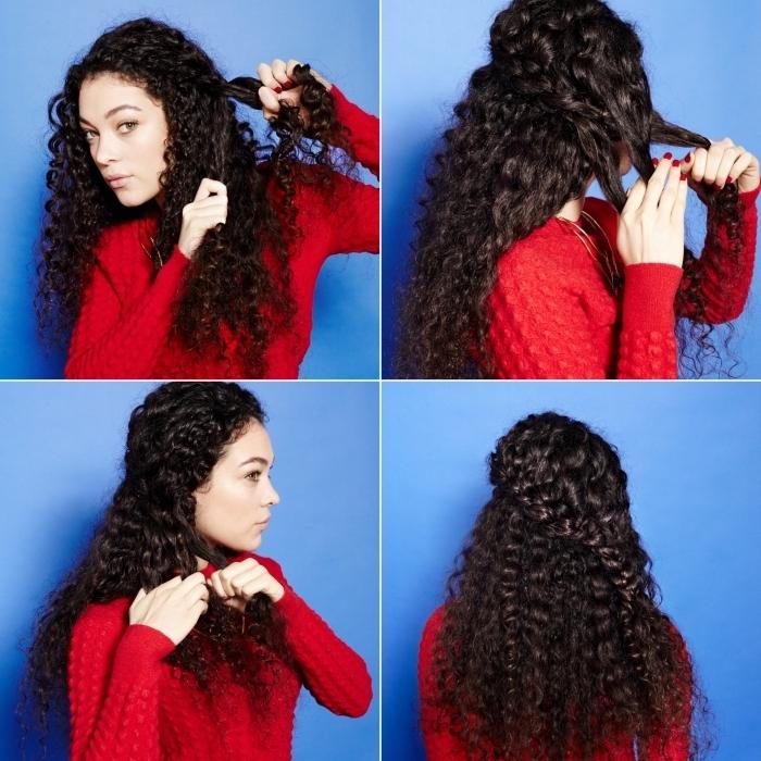 comment réaliser une tresse inachevée sur cheveux crépus, étapes à suivre pour faire une double tresse de côté