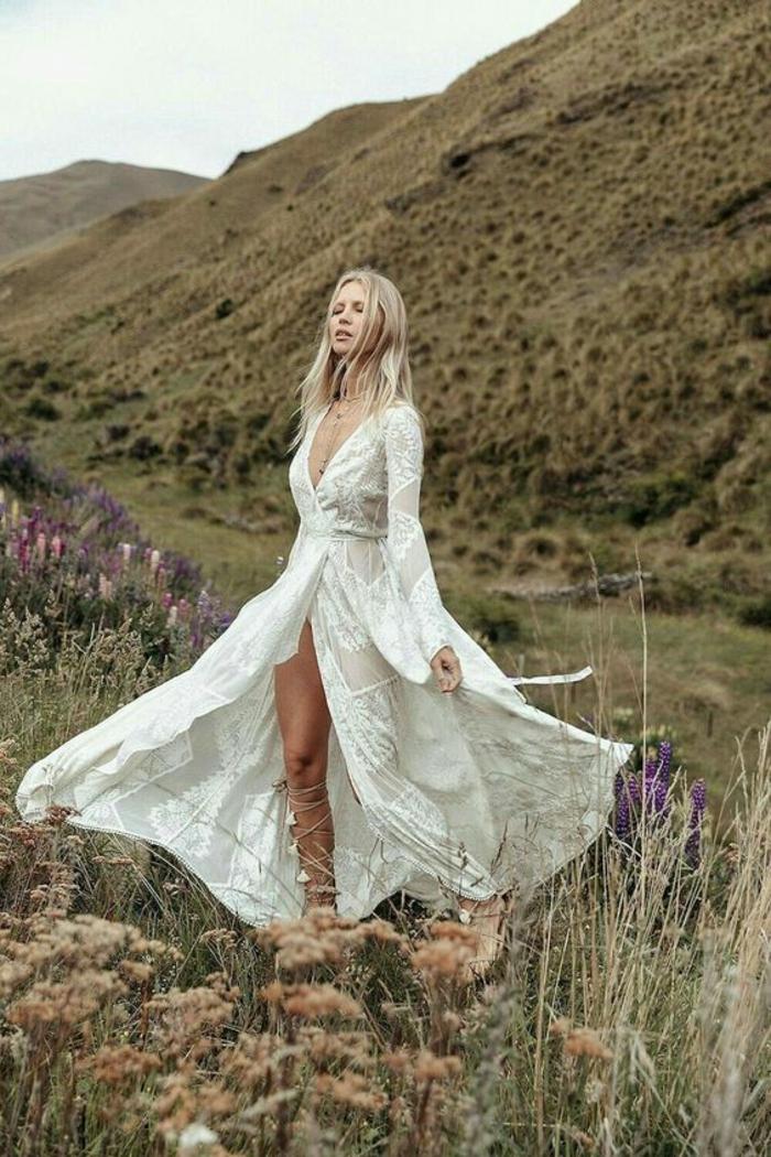 Vetement Hippie Chic Femme : 1001 id es pour une robe hippie chic en dentelle robe boh me ~ Melissatoandfro.com Idées de Décoration