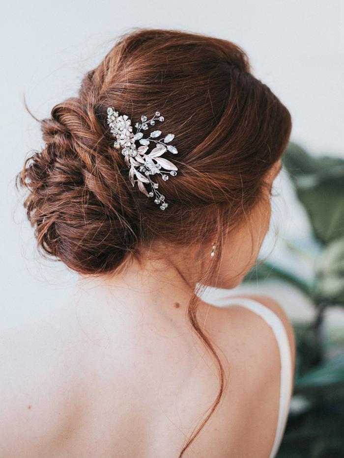 Beauté féminine coiffure mariage boheme, coiffure mariage cheveux mi long idée pour l'été