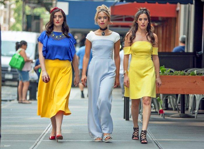 Les princesses de Disney dans le Monde moderne, cool idée déguisement de groupe d'amies, princesses style décontracté chic