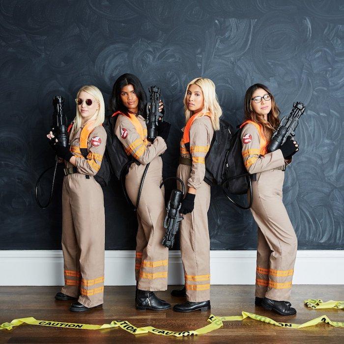 Gost busters filles, idée déguisement de groupe, déguisement halloween fait maison, diy costume halloween