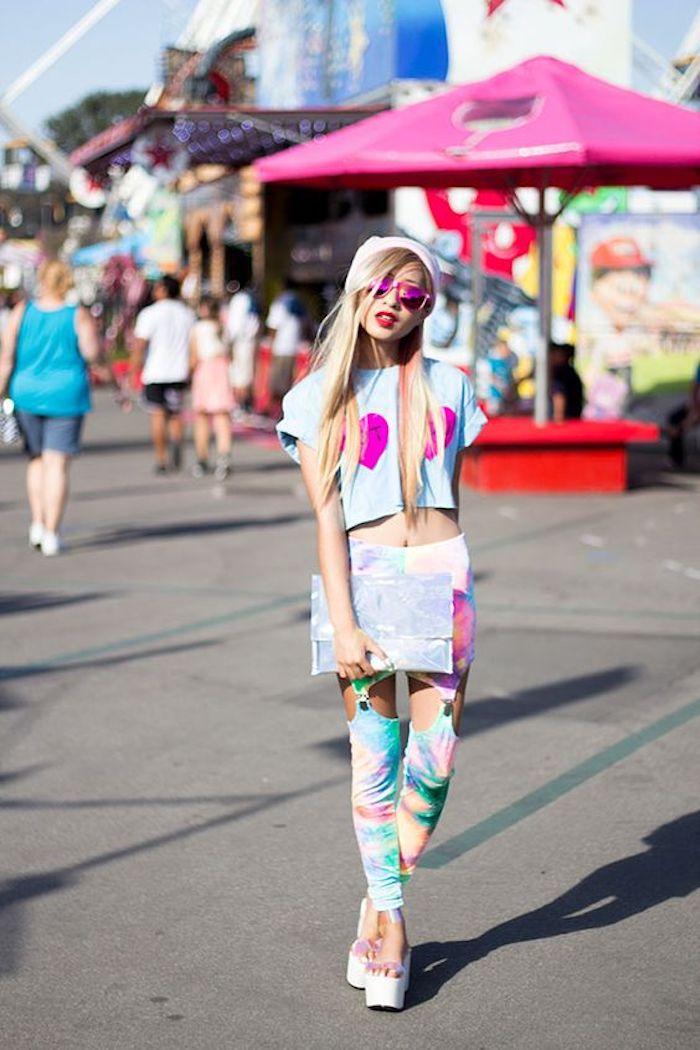 Soirée année 80, comment s habiller vetement année 80 pour etre so rad, cool idée tenue néon