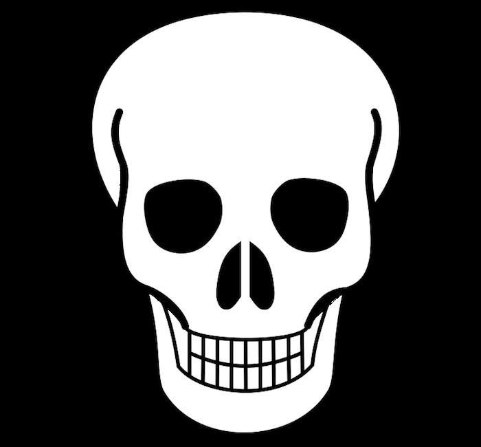 dessin a décalquer tete de mort mexicaine pour déco et activité halloween enfant