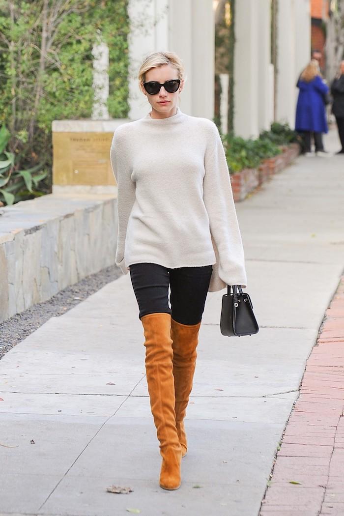 Look cuissarde, chouette idée tenue décontractée pour un look avec cuissarde cool en marron