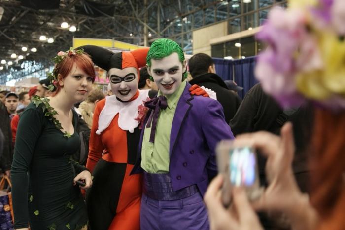 cotumes pour la fête de Halloween, Harley Quinn et le Joker, histoire du monde des bandes dessinées