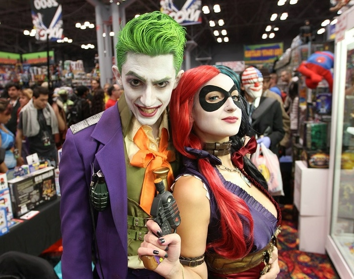 quel héros reproduire pour halloween, Harley quinn et le Joker, une histoire d'amour sinistre, deguisement couple cinema