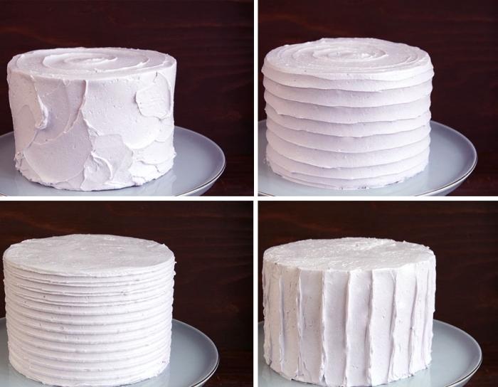 quatre techniques simple pour réaliser un nappage gateau texturé à la crème au beurre