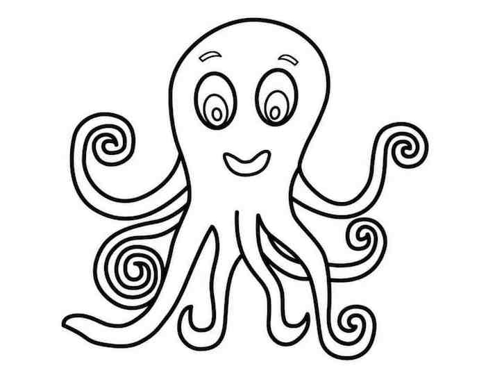 deco halloween a faire soi meme avec dessin de pieuvre facile à colorier