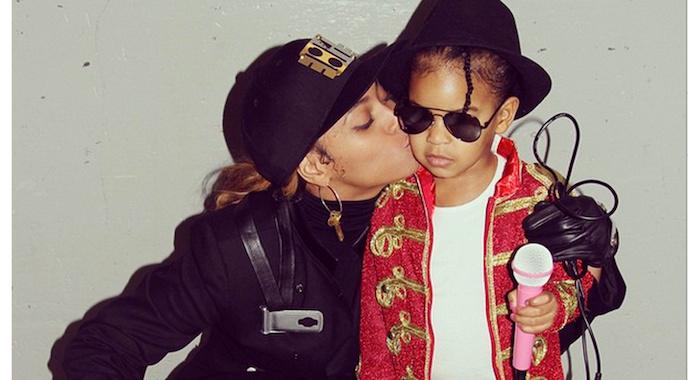 Déguisement année 80 Beyoncé et son fils, Janet et Michel Jackson deguisement Halloween, les années 80 s cool style pour les cool kids