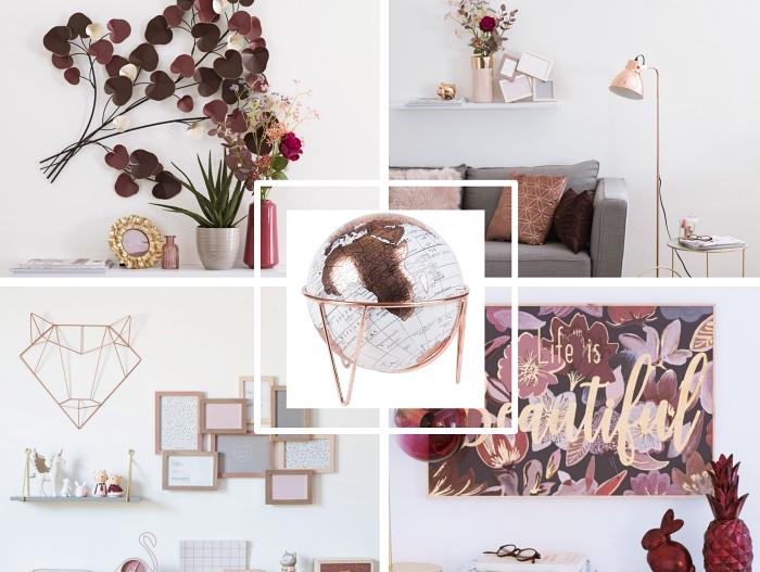 déco de style miss bloom avec accents métalliques en or, comment décorer son domicile avec élément en rouge et rose