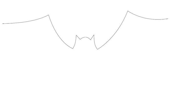 dessin tres facile de chauve souris en une ligne minimaliste à décalquer pour halloween