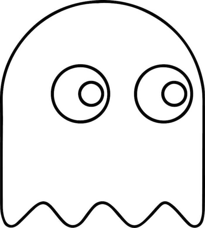 dessin tres facile fantome simple en une ligne pour jeune enfant halloween