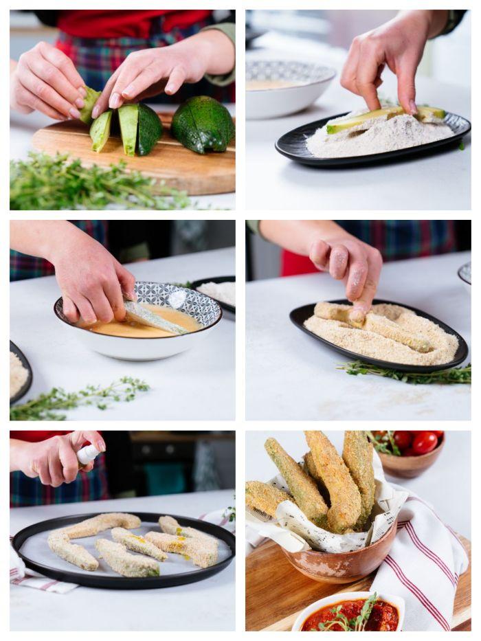 idée comment faire des frites maison d avocat, idee apero dinatoire facile et rapide avec chapelure et parmesan