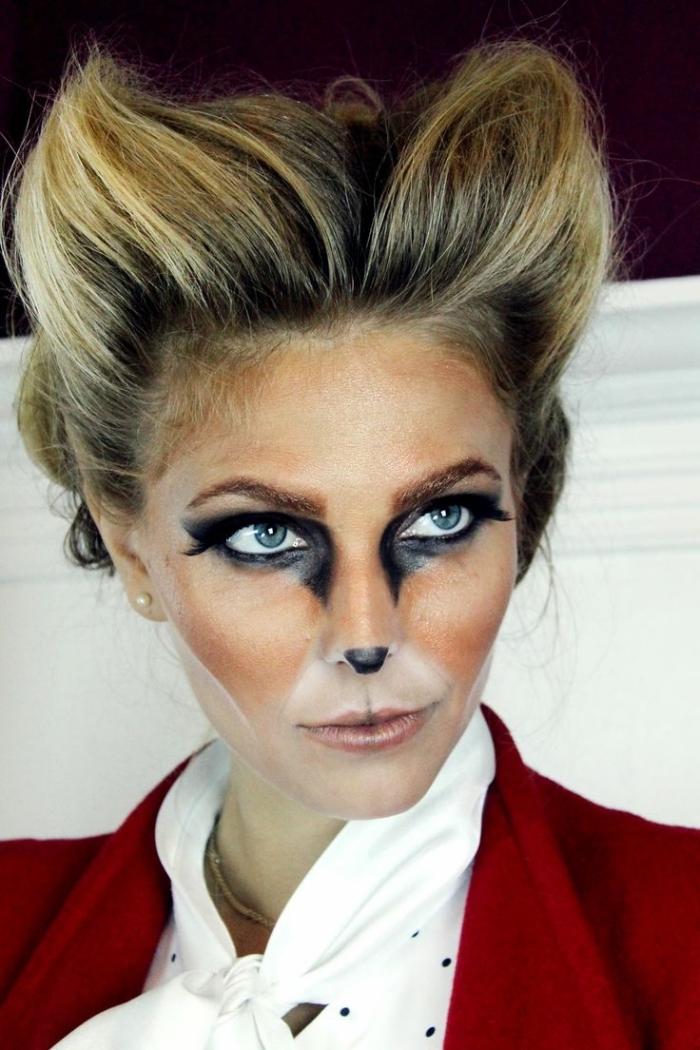 idée de maquillage animalier original de femme biche inspiré du célèbre filtre snapchat