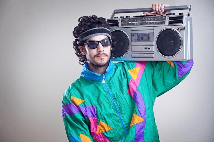 Costume homme année 80, déguisement année 80 pour les garçons, soirée party rétro vêtements