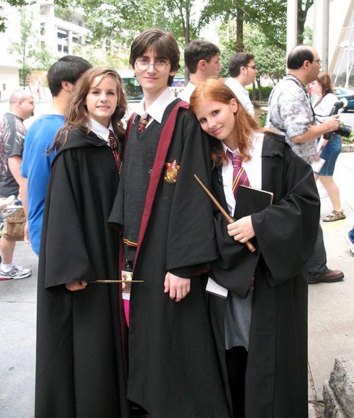 Costumes halloween pour amis, Harry Potter, Hermoine et Ginny costumes, cool idée simple pour se déguiser