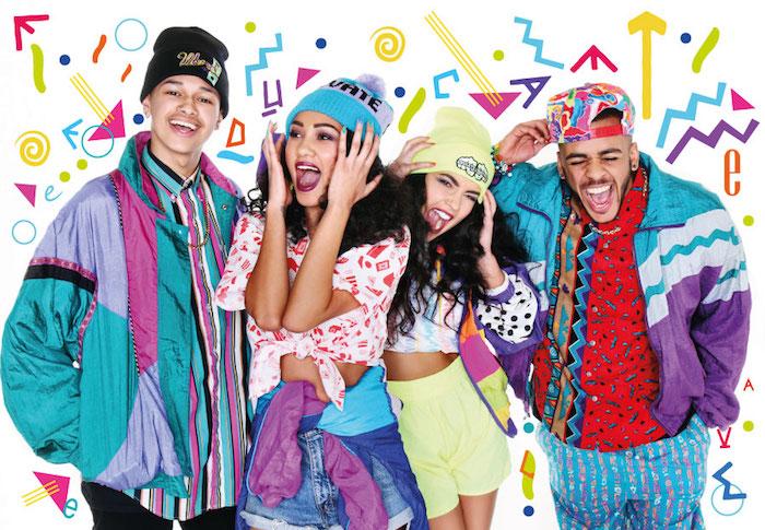 Idée déguisement année 90 le hip hop style, déguisement année fin des années 80, fripes originaux colorés