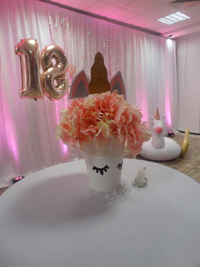 Deco anniversaire pas cher, deco table anniversaire 18 ans cool idée decoration, thème licorne anniversaire adulte