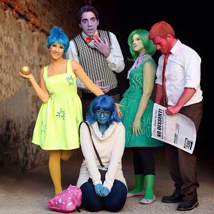 Idée déguisement de groupe, déguisement halloween fait maison, diy costume halloween, inside out costumes des émotions