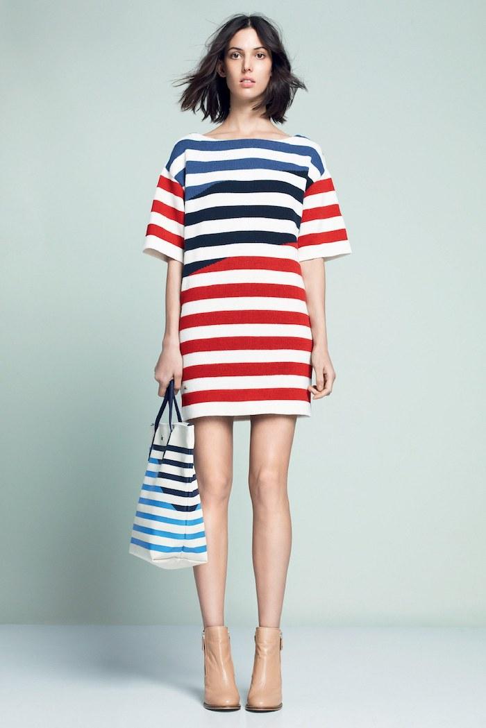 Idée déguisement année 80, robe lacoste rayée vetement année 80, inoubliaubles modèles