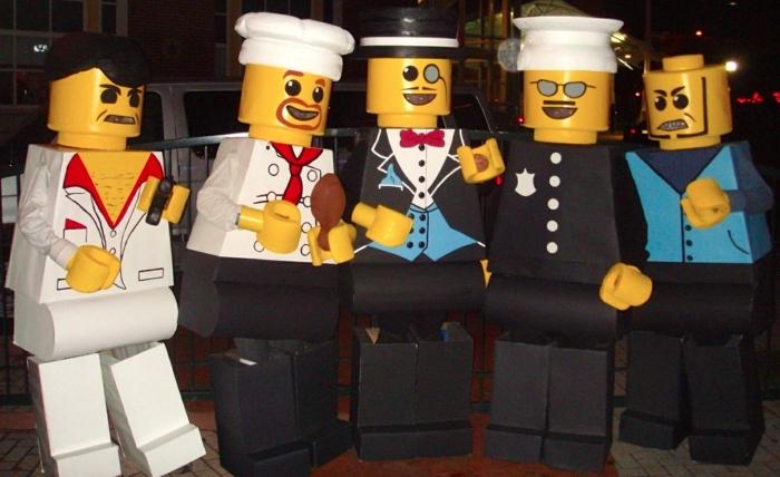 Cool idée comment se déguiser comme lego pièce, Lego deguisement duo, deguisement de groupe, deguisement adulte