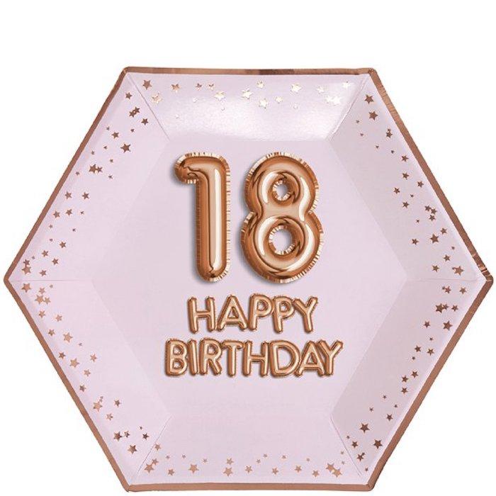 Deco anniversaire 18 ans, decoration anniversaire fille, décoration stylée, choisir les assiettes de l'anniversaire