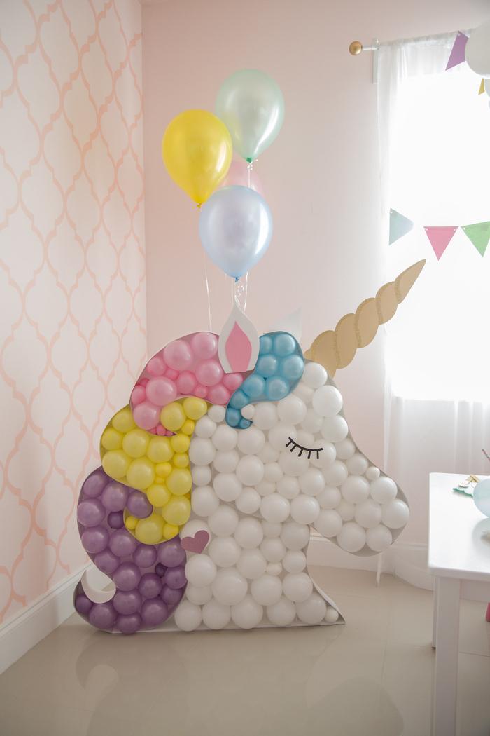 Comment fêter ses 18 ans façon inoubliable, decoration anniversaire fille, quoi faire avec des ballons et carton a forme de licorne