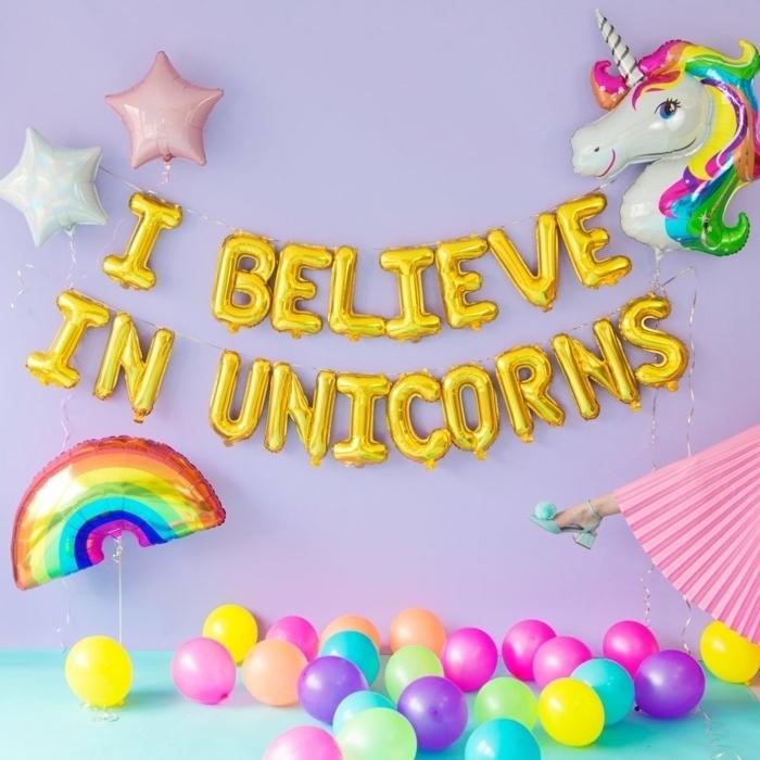 Anniversaire thème licorne pour 18 ans, decoration anniversaire fille, fête pour atteindre l âge de la majorité