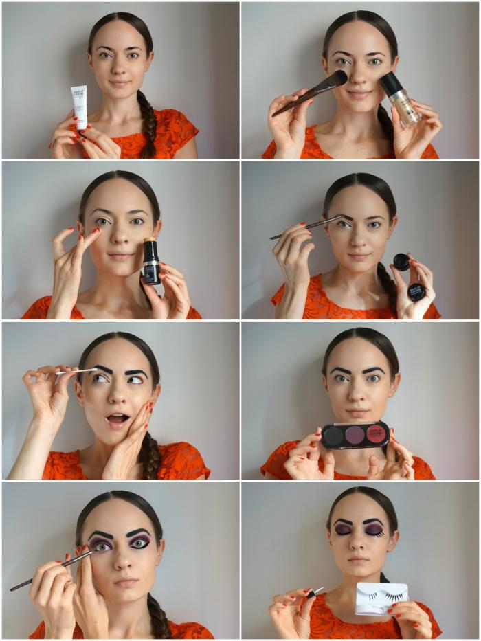 tuto maquillage facile pour réaliser un look de poupée russe avec les produits cosmétiques que vous avez déjà, maquillage des joues façon poupée russe