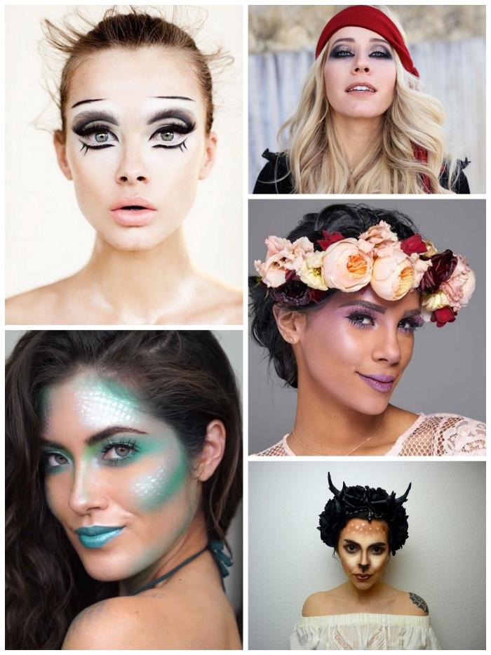 idées originales pour faire un maquillage halloween simple mais impressionnant sans se déguiser vraiment