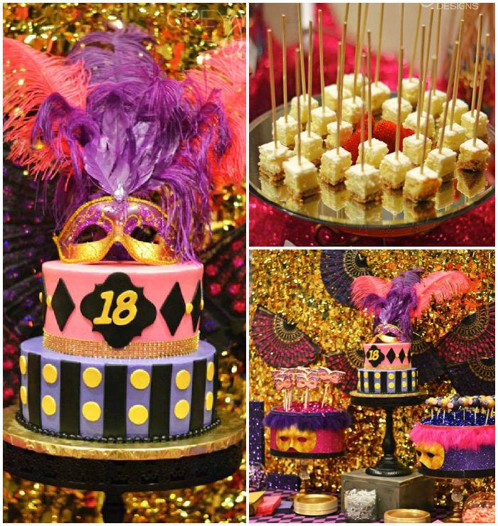 Joyeux anniversaire 18 ans décorations à faire pour anniversaire 18 ans fille, bal de masques
