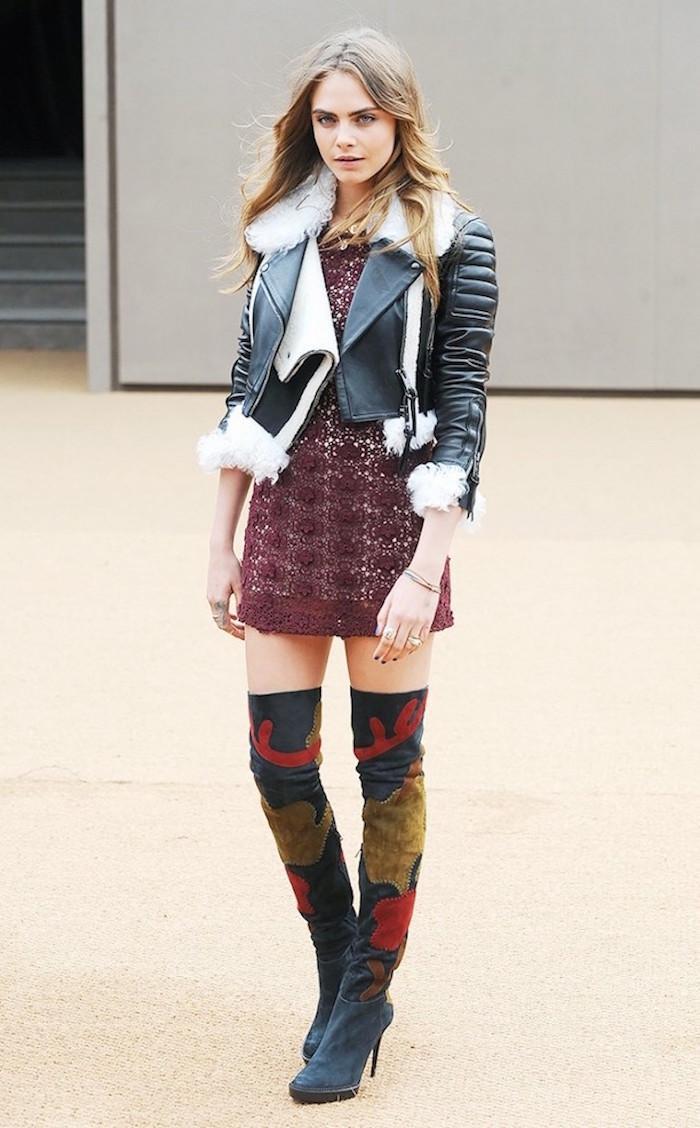 Mode cuissarde jean, comment porter des cuissardes, tenue avec bottes hautes