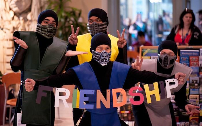 Cinema deguisement trio, simple deguisement de groupe, couple célèbre déguisement, mortal combat jeu héros