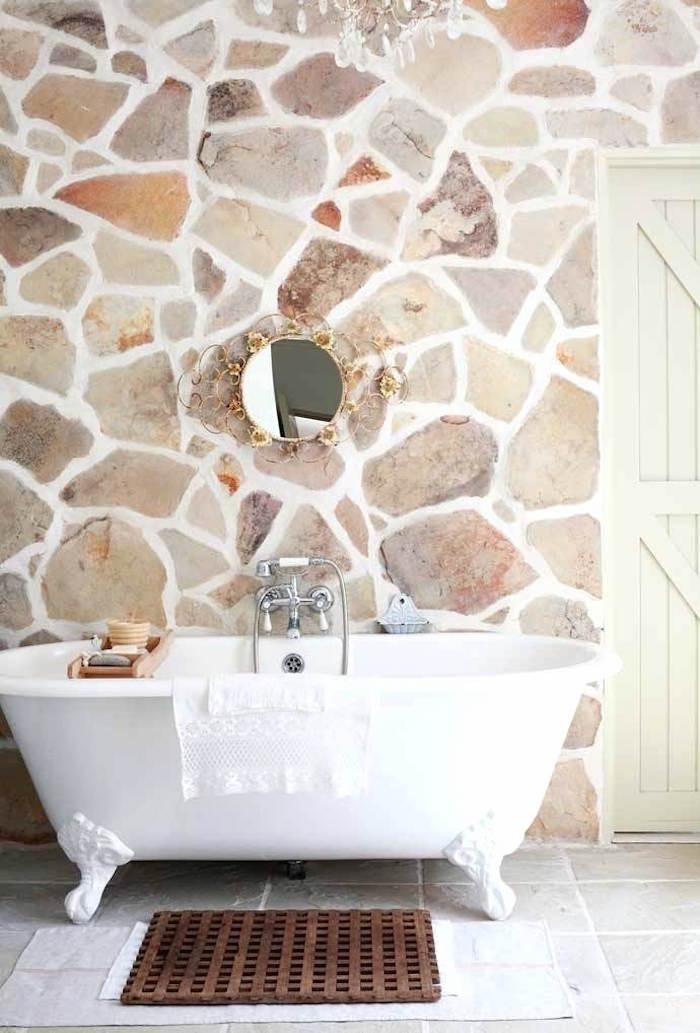 1001 id es mur en pierre int rieur pilier en terme d 39 authenticit. Black Bedroom Furniture Sets. Home Design Ideas
