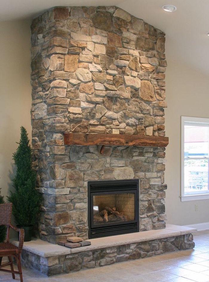 conduit de cheminée en pierre de parement pour une touche déco rustique
