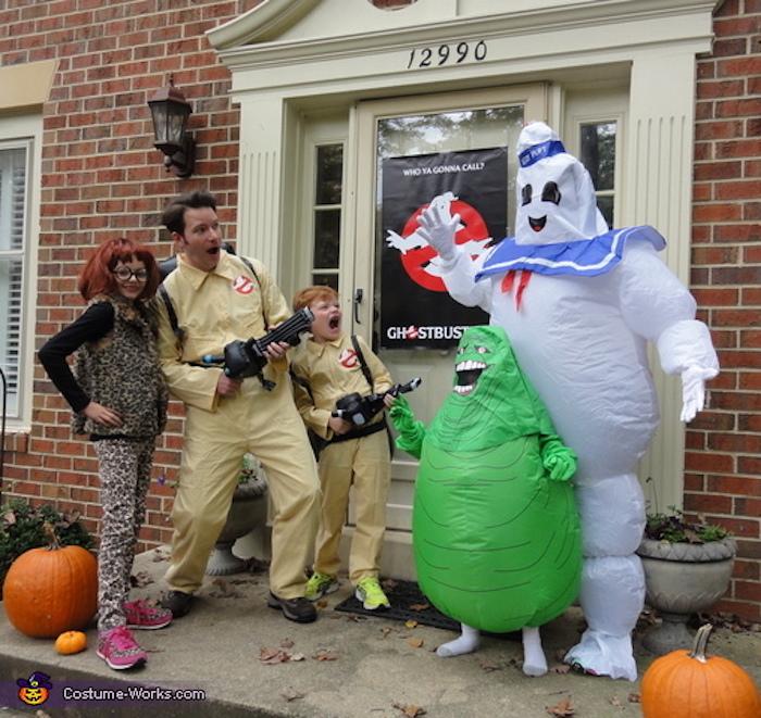 Deguisement de groupe, deguisement fête halloween maison costumes complémentaires, gost busters film