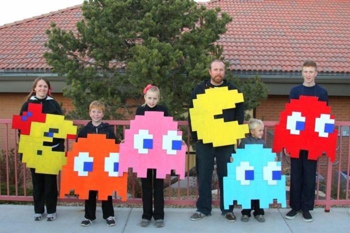 Idée déguisement cool idee de deguisement groupe s habiller pour la fête, la groupe de pakman coloré
